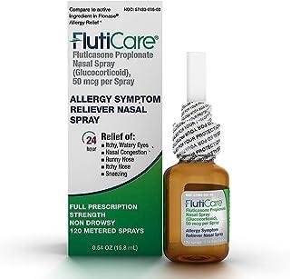 Best FlutiCare 120 metered nasal sprays (1 pack), Fluticasone Propionate 50mcg, Relief During Allergy Season from Pollen, Dust, Dander, Both Indoor and Outdoor allergens - 1 month supply Review