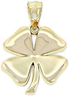 Charm America - Gold Four Leaf Clover Charm - 14 Karat Solid Gold