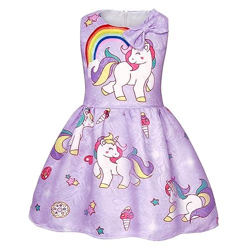 859e6aacf7f21 AmzBarley Girls Unicorn Dress Princess Sleeveless Evening Party Dresses for  Kids Halloween Costume Holiday Birthday Dress