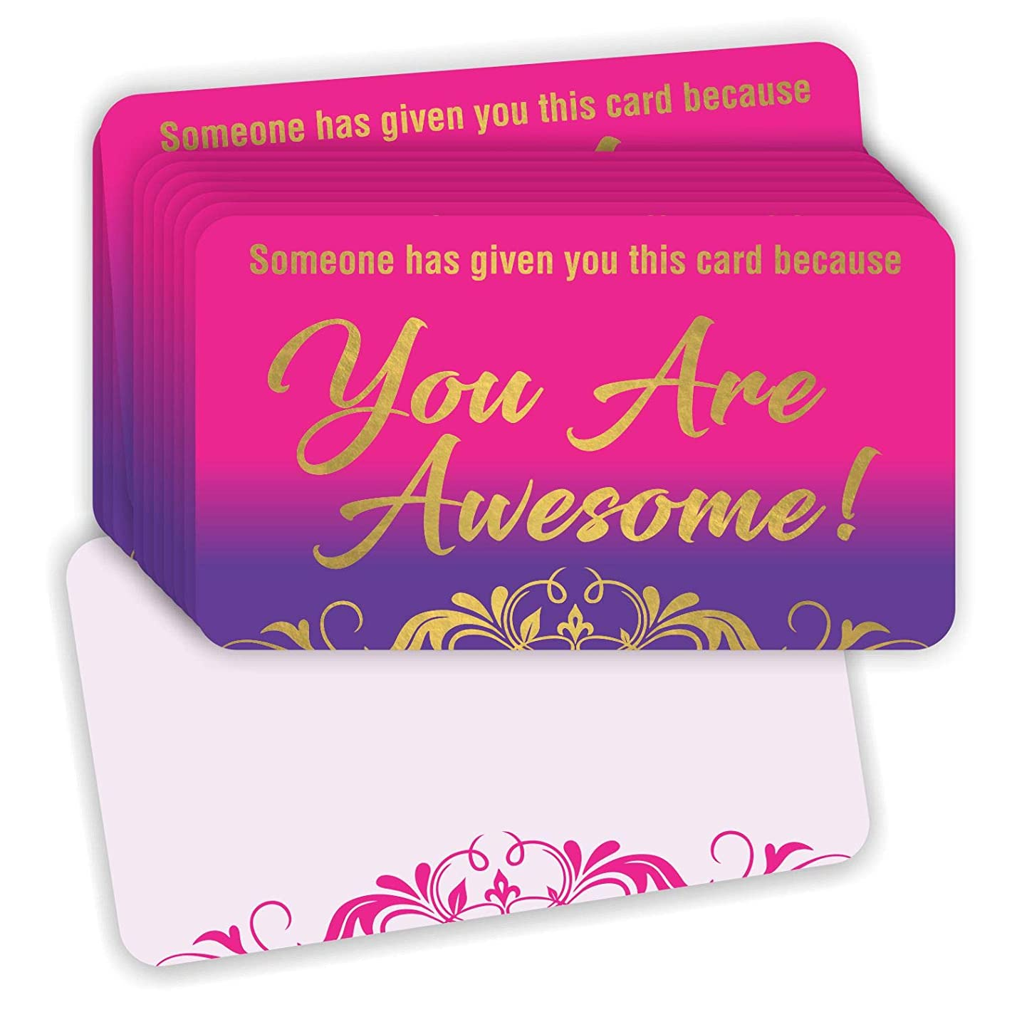 You are Awesome Cards (Pack of 100) Gold Foil Stamping 3.5