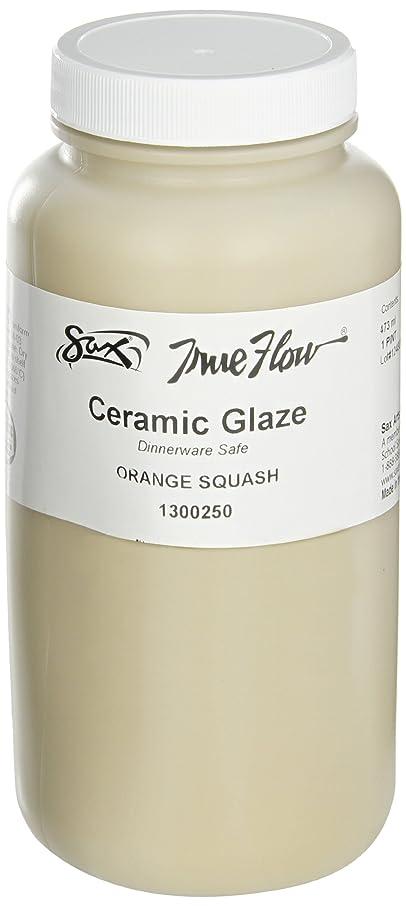 Sax True Flow Gloss Glaze, Orange Squash, 1 Pint