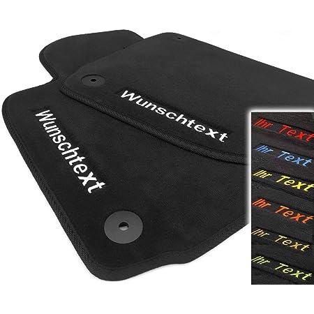 Kh Teile Fußmatten Passend Für Golf 4 Premium Qualität Automatten Schwarz 2 Teilig Vorn Bestickt Mit Wunschtext Namen Werbung Uvm Auto