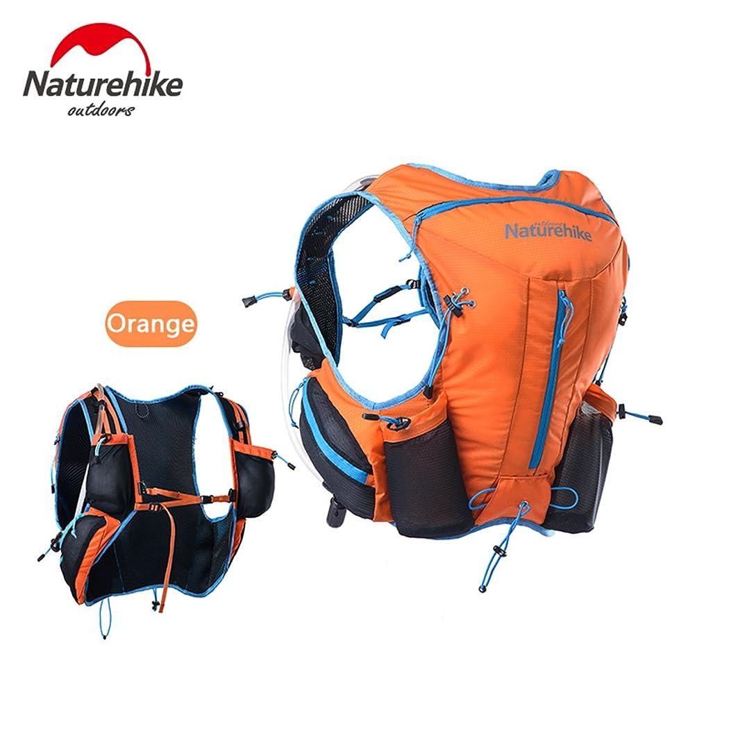 しっかりマカダム再生NatureHike ハイドレーションバッグ ランニングバッグ サイクリングバッグ スポーツバッグ マラソン ジョギング 自転車バックパック リュックウォーターバッグ 12L 3色選び(オレンジ(Orange)