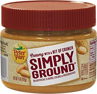Peter Pan Simply Ground Peanut Butter, 15 oz