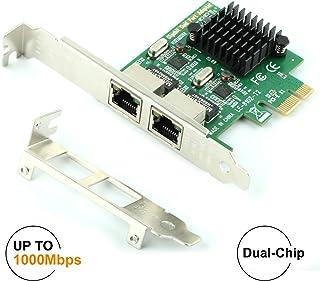 Ubit Pcie - Tarjeta Gigabit, 10/100/1000 Mbps Gigabit PCI Express (8102), RJ45 Port x 2