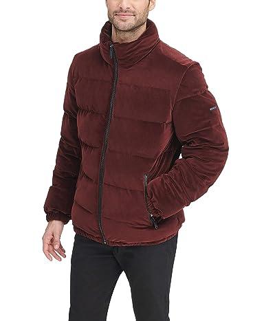 DKNY Quilted Velvet Ultra Loft Puffer Jacket