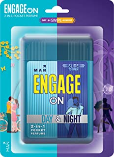Engage On 2-In-1 Pocket Perfume Man Day & Night, 28 ml