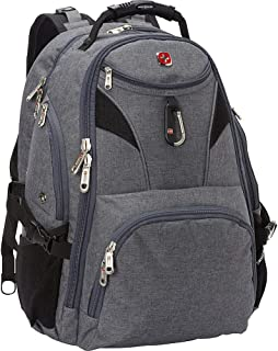 SwissGear Travel Gear 5977 Scansmart TSA Laptop Backpack for Travel, School & Business - Fits 17 Inch Laptop - (Grey)