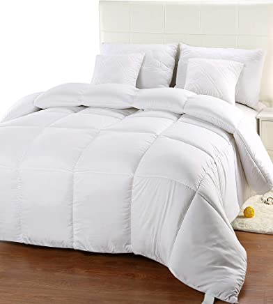 Utopia Bedding Comforter Duvet Insert - Quilted Comforter with Corner Tabs - Hypoallergenic, Box Stitched Down Alternative Comforter (Full/Queen, White)