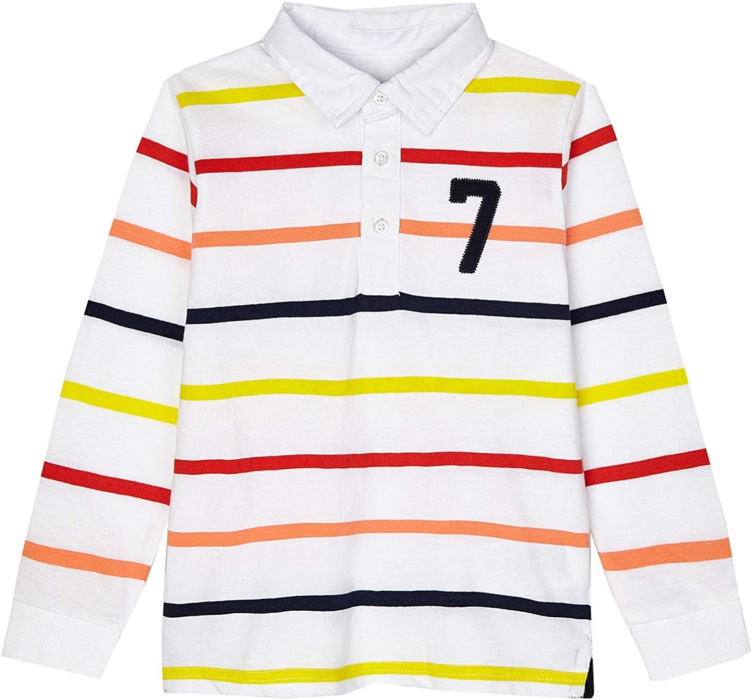 Mayoral - L/s Stripes Polo for Boys - 3114, Apricot