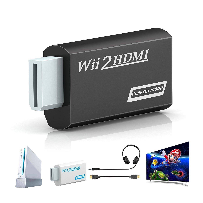 Wii a HDMI adaptador, gana Wii a HDMI convertidor conector con ...