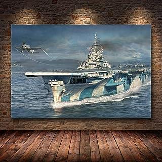 H/H World Warships Belle Anime Art HD Affiche Décoration De La Maison Peinture Mode Bar Café Toile Art Peinture À l'huile ...