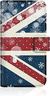 CaseMarket Amazon.co.jp クリスマス 限定予約 【手帳式】 CaseMarket スリム ケース [ ユニオンジャック スノー ホワイト グラフィック ]  iPhone6-VCM2D2185
