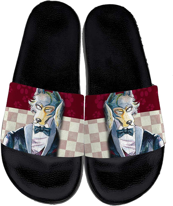 Japanese Anime Slippers for Men Women Custom Comfort Non-Slip Indoor Outdoor Anime Cosplay Slide Sandals Gifts for Friends,Black,Men 10,Women 12