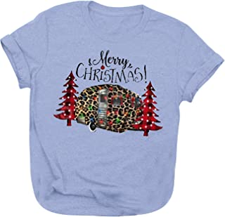 Christmas Pullover T-Shirts for Womens Pattern Print...