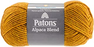 Patons  Alpaca Blend Yarn - (5) Bulky Gauge  - 3.5oz -  Butternut -  Machine Washable  For Crochet, Knitting & Crafting