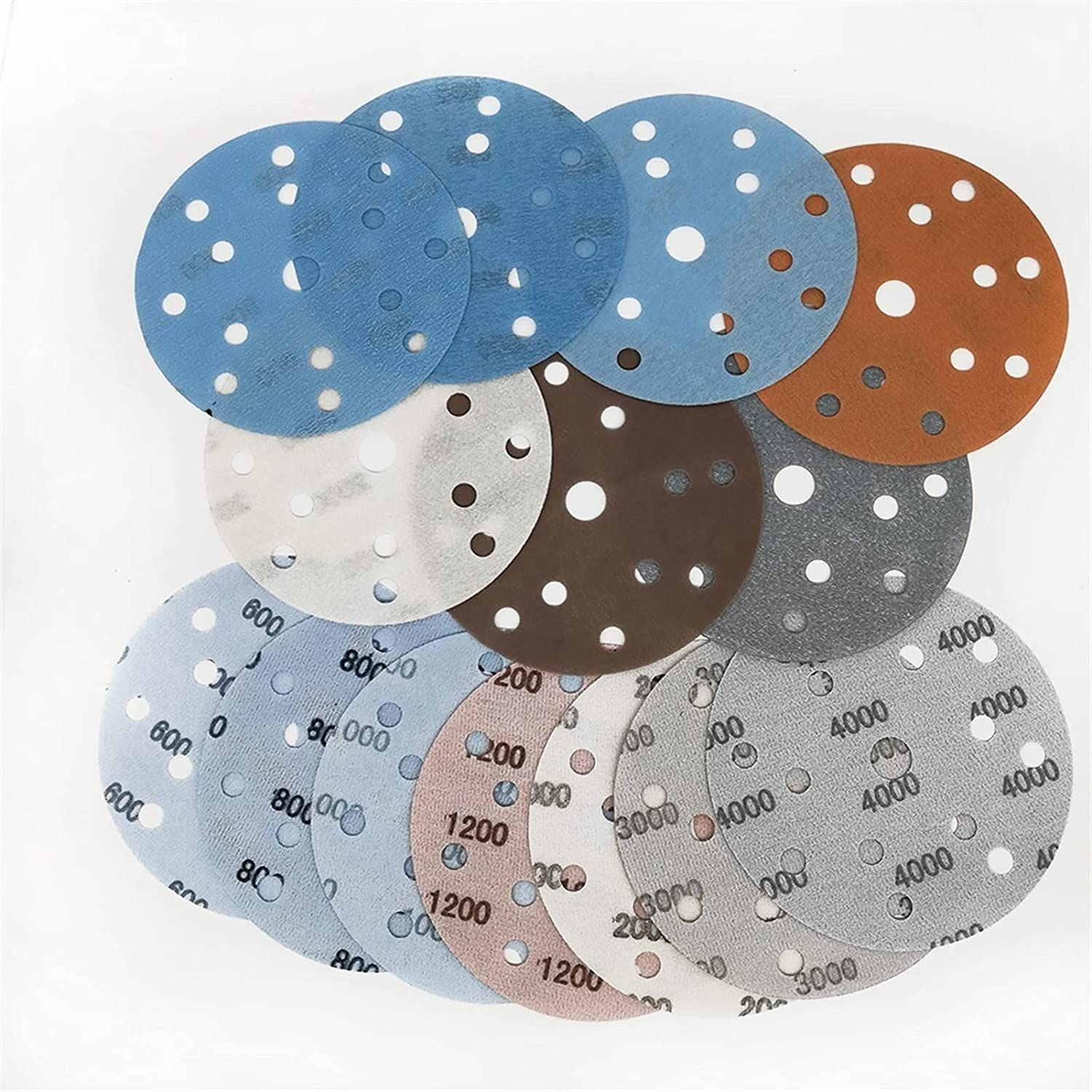 10PCS Now free shipping 6Inch 15 Holes New popularity Superfine Sanding Disc Soft Waterproof Film