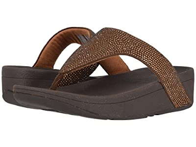 FitFlop Lottie Shimmer Crystal (Bronze/Chocolate Brown) Women