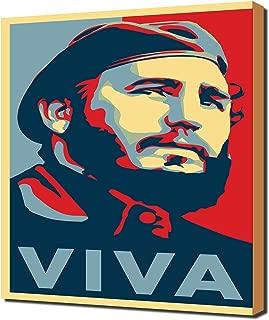Fidel Castro 2 - Pop Art - Modern Art - Wall Picture - Canvas Print