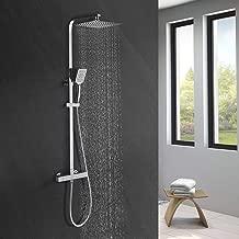 Thermostat Regendusche Duschsystem Duschkopf Duschstange Duschset Brause Chrom