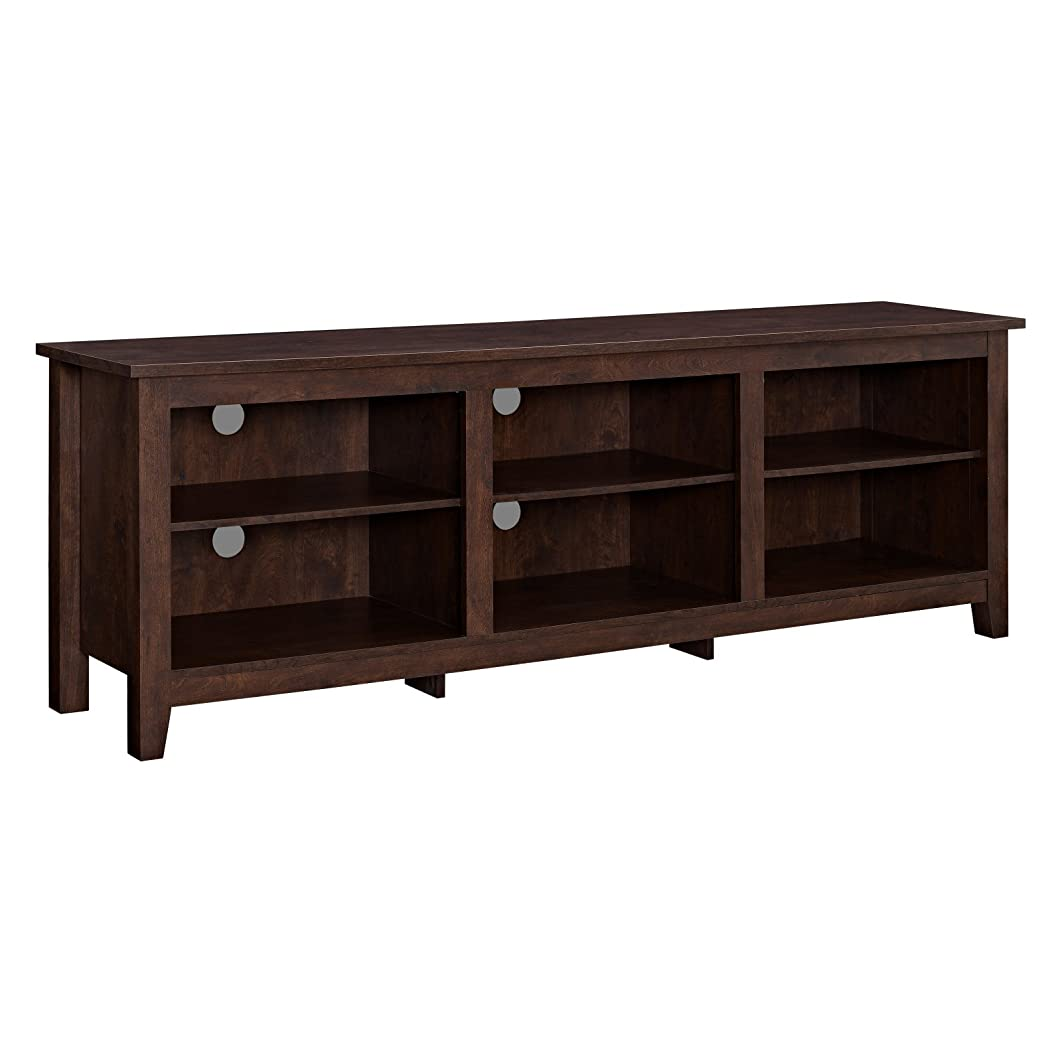 LOVE US Rich and Textured Wood TV Stand for TVs up to 70
