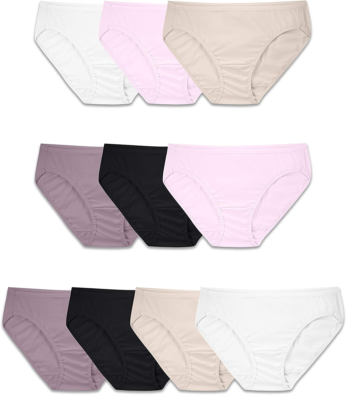 Fruit of the Loom Women's Tag Free Cotton Bikini Panties