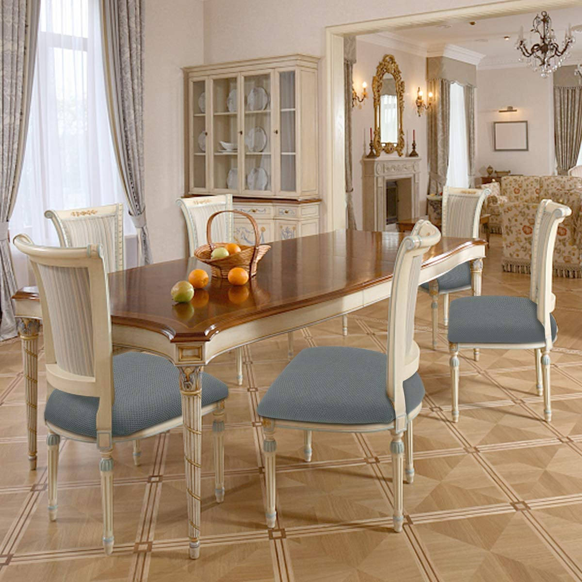 Buy Seat Covers for Dining Room Chairs, Waterproof Kitchen Dining ...
