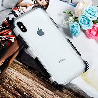 QFH Blade Acrylic + TPU Shockproof Protective Case for iPhone XS Max (Black Blue) new style phone case (Color : Black)