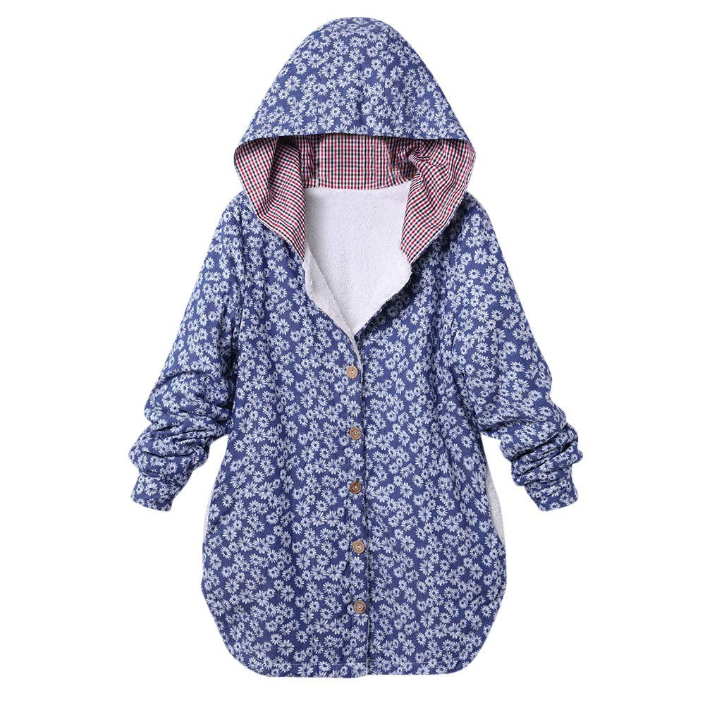 TWGONE Fluffy Hoodie for Women Plus Size Hooded Sweater Long Sleeve Sweatshirts Owl Graphic Pachwork Casual Top