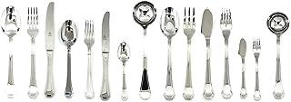 Mepra 101722126 Flatware Set, [126 Piece, Metallic Finish, Dishwasher Safe Cutlery