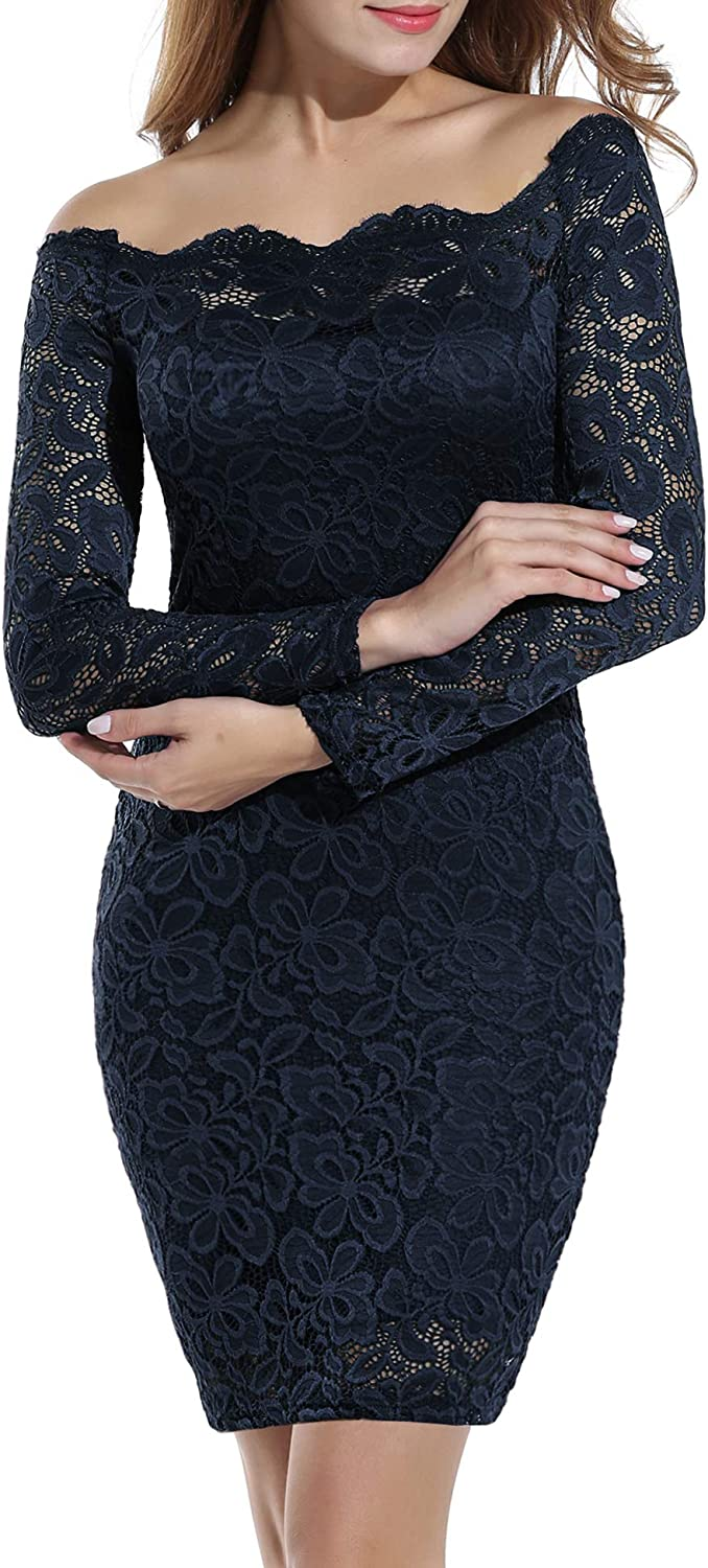 ACEVOG Women Off Shoulder Dress Lace Max 54% OFF Party Ranking TOP2 Floral