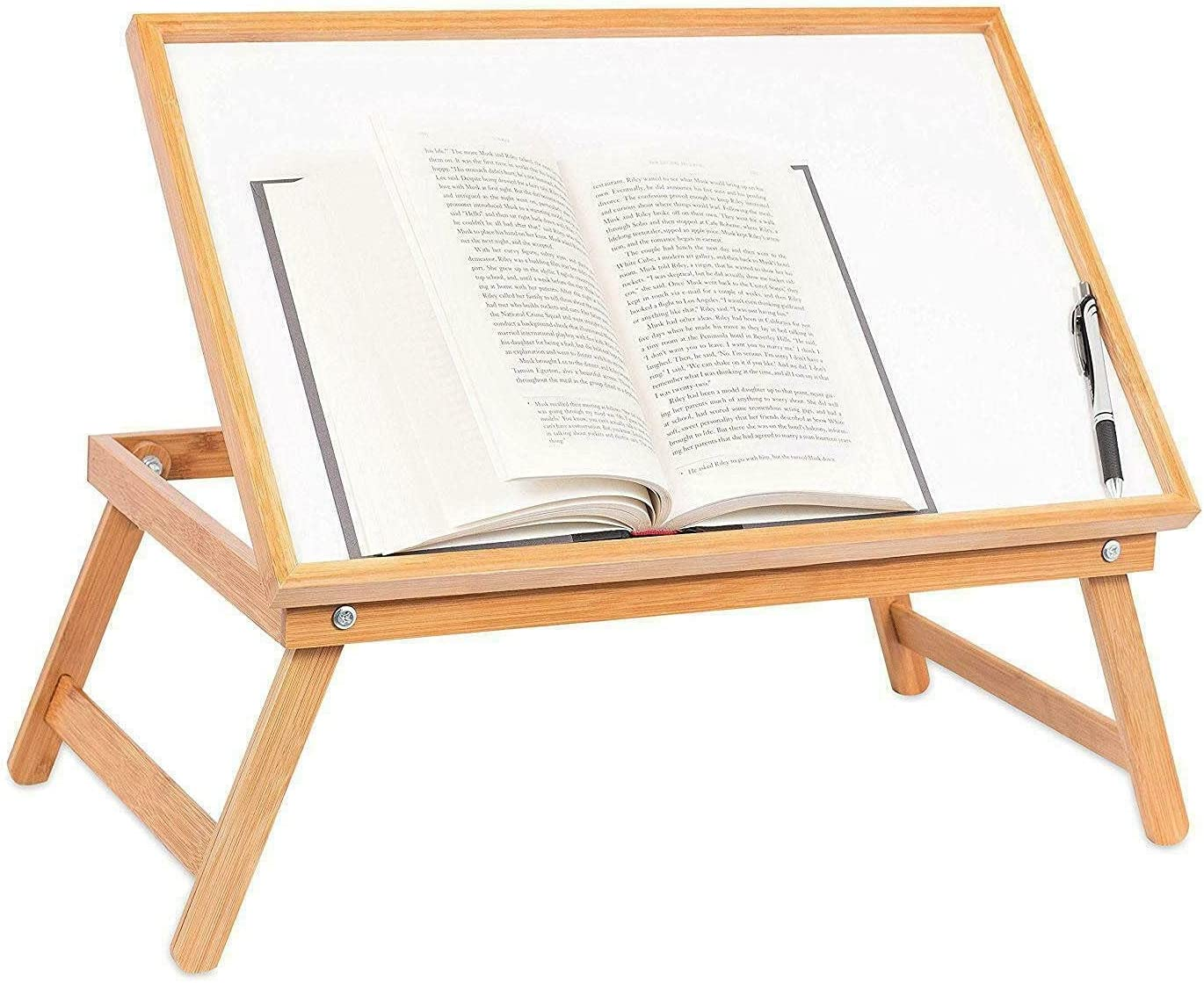 OFFicial Kosoree Adjustable Wood Bed Tray Table Serving Sales of SALE items from new works Folding Desk Lap