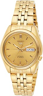 Seiko 5 Automatic Men's Gold Dial Stainless Steel Band Watch - SNK366K1
