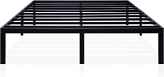 Ecos Living 14 Inch Metal Platform Bed Frame with Steel Slat Support/No Box Spring Need/Easy Assembly/Noise Free, Black, King