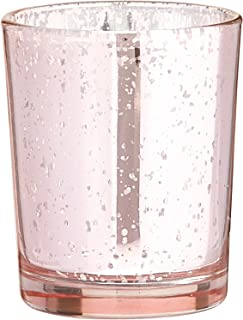 Kate Aspen Mercury Glass Tealight Holders, Wedding/Party Decorations, Party Favors, Gift Set (Set of 4), Light Pink