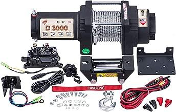 Sinoking 12VDC 3000LB/1361kg, Waterproof Electric Winch UTV ATV Winch with 0.18″39′(feet) Steel Wire Rope Winch Kit