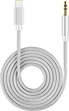 Aux Cable for Car 3.5mm Aux Cable Car AUX Cable Compatible with iPhone X/XS/11/8/8Plus/7/7Plus Jack to 3.5mm Male Aux Adapter for Car Stereo, Headphone, Speaker Support iOS 12 or Later – Silver