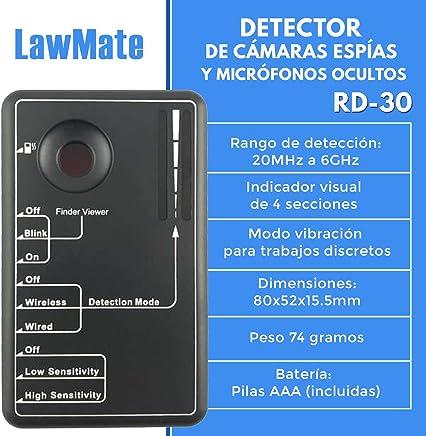 Detector de Cámaras Espías y Micrófonos Ocultos RD-30 LawMate | Localizador de Frecuencias y