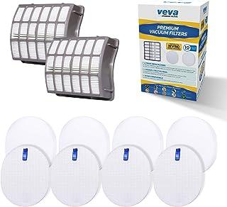 VEVA Complete Premium Vacuum Filter Set Including 2 HEPA, 4 Foam, 4 Felt Filters