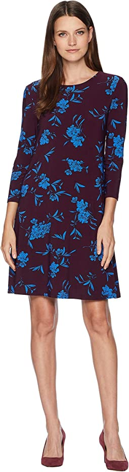 Abbi Almonte Floral 3/4 Sleeve Day Dress