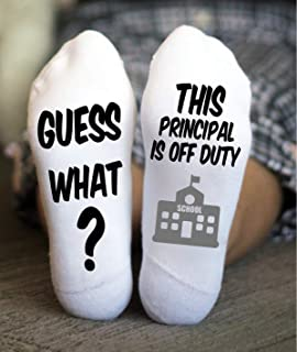 School Socks Off Duty Birthday Christmas Gifts Principal