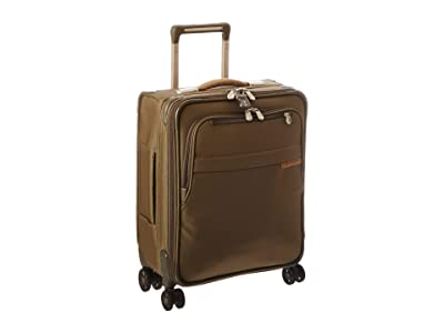 Briggs & Riley Baseline International Carry-On Expandable Wide-Body Spinner (Olive) Carry on Luggage