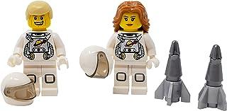 LEGO Male and Female Astronauts with Mini Rocket - Custom...