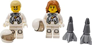 LEGO Male and Female Astronauts with Mini Rocket - Custom Space Minifigures