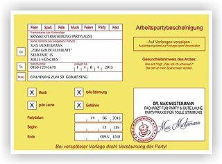Einladung Krankschreibung Krankmeldung Arbeitsunfähigkeit Geburtstagskarte Arzt (90 Stück) B06XC5F2ZH    Stabile Qualität 7264a2