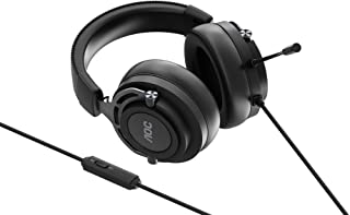 AOC GH200 Over-Ear Gaming Headset with Stereo Sound, 3.5 mm Audio Jack and Microphone, Black