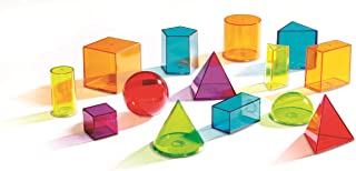 Learning Resources View-Thru Geometric Solids, Geometry Helper, 14 Pieces, Ages 8+