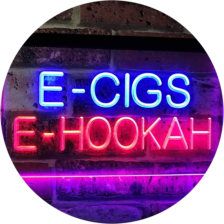 ADVPRO E-Cigs E-Hookah Indoor Shop Display Dual Farbe LED Barlicht Neonlicht Lichtwerbung Neon Sign Blau & rot 16  x 12  st6s43-i3107-br