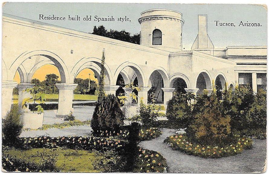 Postcard Spanish Style Residence in Tucson, Arizona~98417