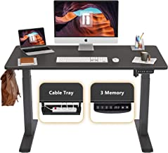 FEZIBO Height Adjustable Electric Standing Desk, 48 x 24 Inches Stand Up Table, Sit Stand Home Office Desk with Splice Boa...